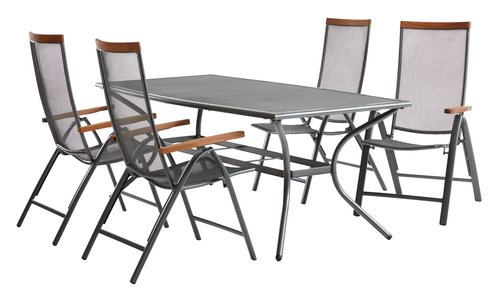 Table LARVIK W100xL200 grey