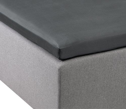 Sijauspatjalakana 90x200x6-10cm harmaa