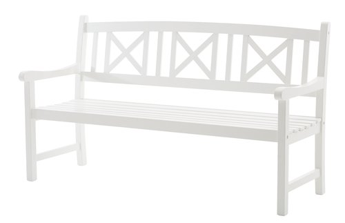 Bench HVIDE SANDE W158xL62 white