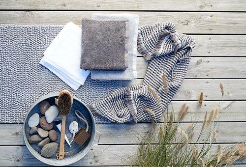 Badehåndklæde LERKIL øko. mørkegrå SENSE