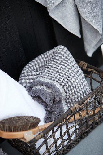 Håndklæde LERKIL øko. lysegrå SENSE