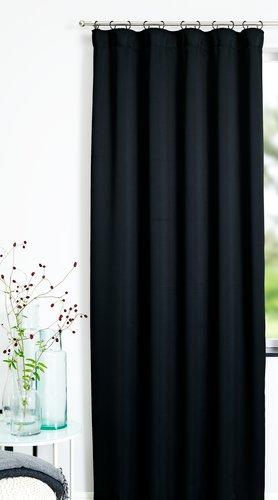 Rideau tamisant AMUNGEN 1x140x300cm noir