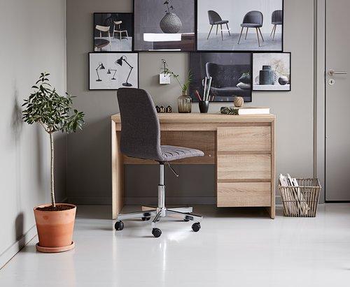 Radni stol HALLUND 59x119 hrast