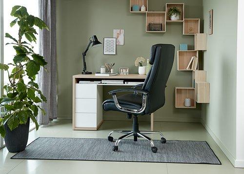 Skrivebord LANGESKOV 60x110 høyglans/eik
