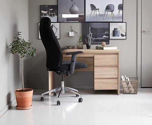 Písací stôl HALLUND 3 zásuvky dub