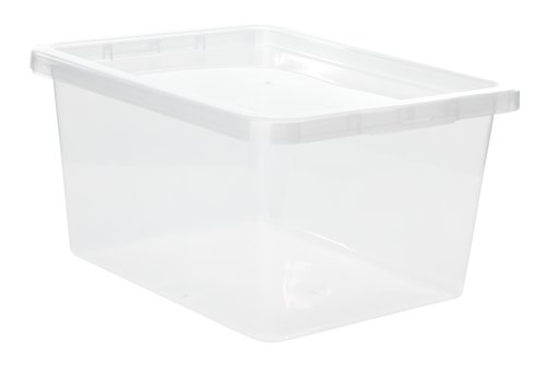 Storage box BASIC BOX 20L w/lid clear