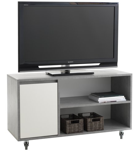 Tv Meubel Serie Sanne.Tv Meubel Billund Wit Beton Jysk