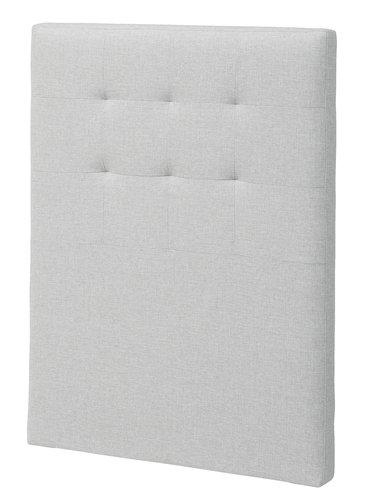 Sänggavel 90x125 H50 STITCHED grå-32