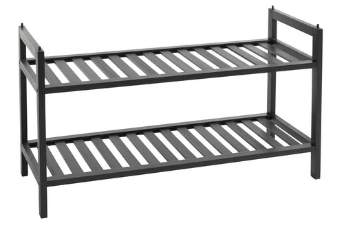 Shoe rack UGGERBY 2 shlv. black