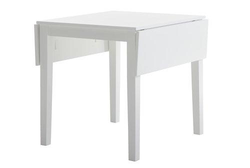 Spisebord NORDBY 80x70/120 hvit