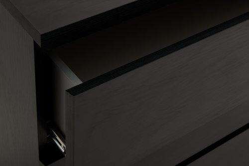 Komoda LIMFJORDEN 4 zásuvky černá