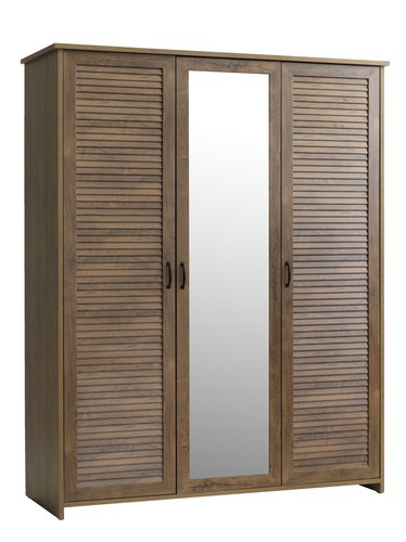 Wardrobe MANDERUP 166x210 cm w/m oak