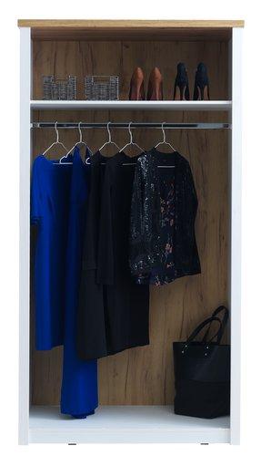 Wardrobe MARKSKEL 112x210 cm white/oak