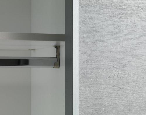 Vaatekaappi TARP 120x201 betoni/valk.