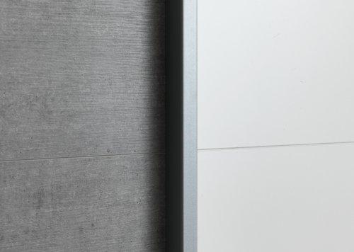 Skap TARP 120x201 betong/hvit