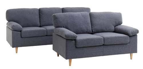 Sofa suite GEDVED 2 pieces grey