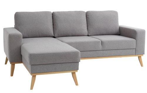 Sofa ARENDAL chaiselong lysegrå