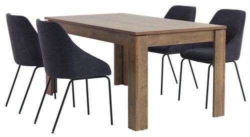 Tavolo pranzo VEDDE 90x160 rovere
