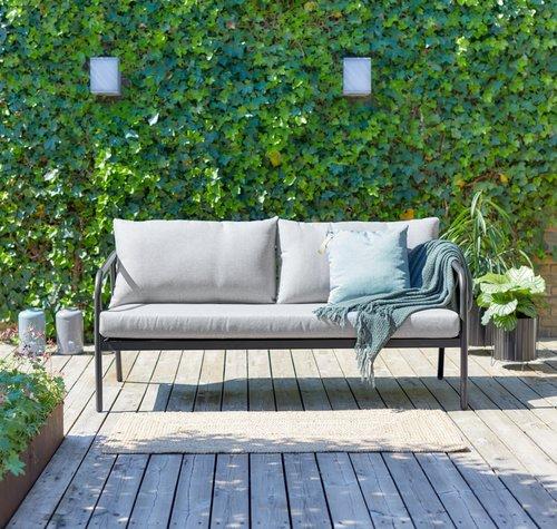 Canapea terasă RADSTED 3 pers. gri