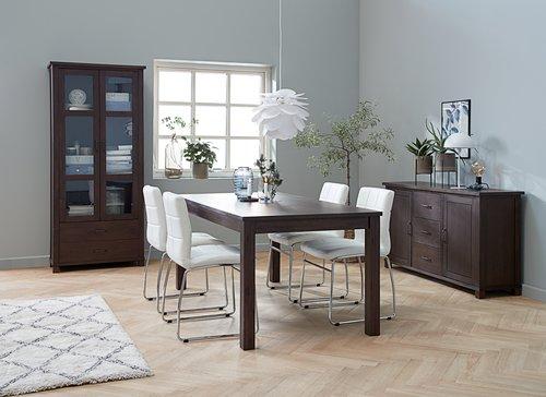 Blagovaonska stolica HAMMEL bijela/krom