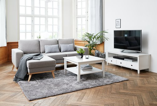 TV bench NORDBY white
