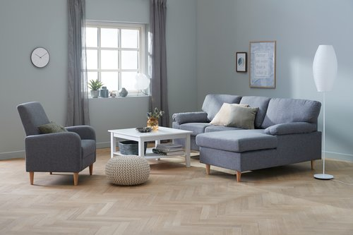 Coffee table NORDBY 80x80 cm white