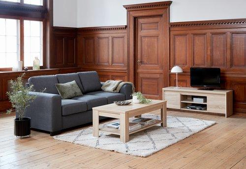 Soffa EBBERUP 3-sits grå