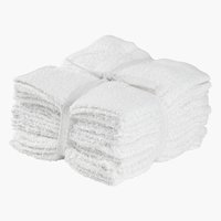 Toalha de rosto FLISBY 10 uds/emb branco