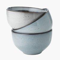 Bowl LAUKE D12xH7cm stoneware assorted