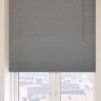 Plisségardin Mörkl. FUR 140x160 grå