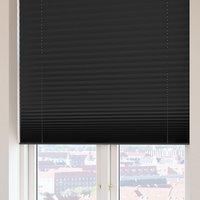 Plisségardin FYN 130x160 lysdemp svart