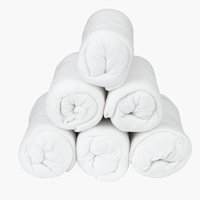 Prześc. frotte 80/90x200x25cm białe