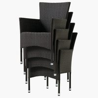 Krzesło AIDT brązowe