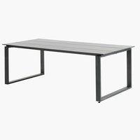 Table KOPERVIK 100x215 gris
