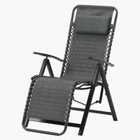 Chaise relax EGHOLT gris