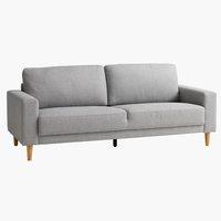 Sofa EGENSE 3-Sitzer hellgrau