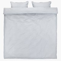 Duvet cover VIDA DBL blue/white