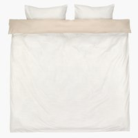 Bedding set ANDREA DBL sand/white