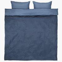 Parure de lit CATERINA Micro DBL bleu