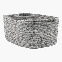 Basket DANTE W24xL35xH17cm grey