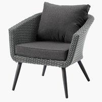 Lounge stolica VEBBESTRUP siva
