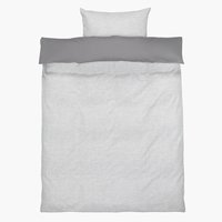 Duvet cover SELMA Sateen SGL grey/white