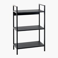 Shelving unit TISTRUP 3 shelves black