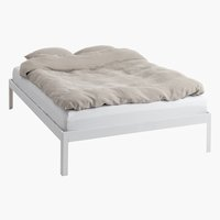 Bed frame POLDEN KNG white