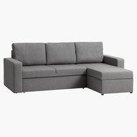 Угловой диван-кровать VILS светло-серый