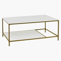 Coffee table PANDRUP 70x110 white/gold