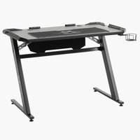 Gaming desk LANGHOLM w/LED black