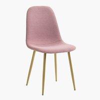 Jídelní židle JONSTRUP růžová/zlatá