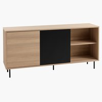 Sideboard FARSUND 2 doors oak/black