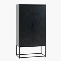 Cabinet VIRUM 2 doors black